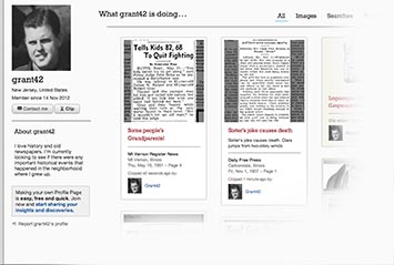 Profile page on The Anniston Star Archive